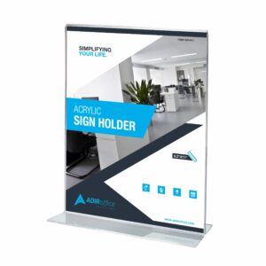 Clear T-Shaped Base Sign Holder