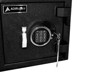 AdirOffice Keypad Drop Box Safe for Cash, Documents, and Valuables
