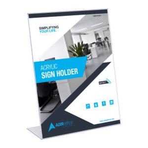 Acrylic Sign Holder 8.5'' x 11''