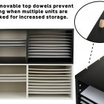 AdirOffice Extra Wide Wooden Construction Paper Organizer