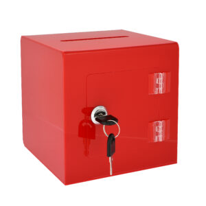"6"" x 6'' Acrylic Ballot and Donation Box with Easy Open Rear Door"