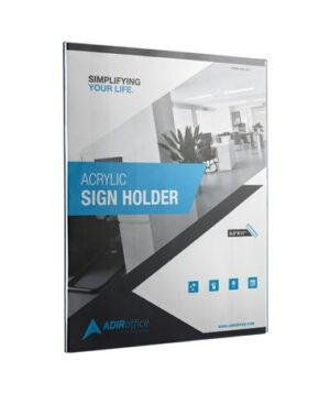 "Wall Mount Side-Loading Acrylic Sign Holders 8.5"" x 11"""