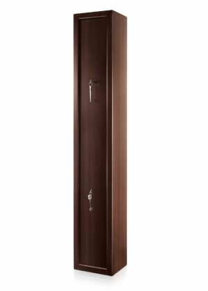 Dual Lock Steel Riffle Safe in Mahogany Finish