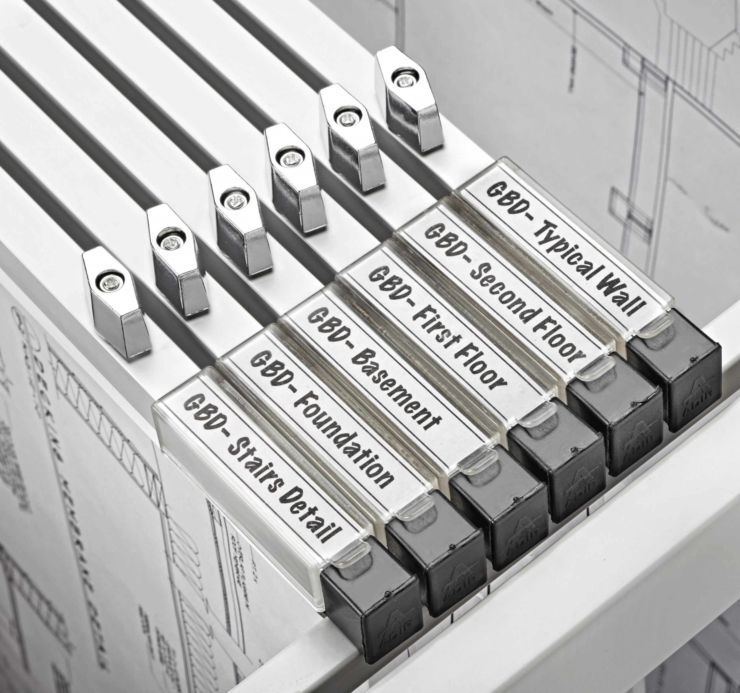 Blueprint File Hanging Clamps