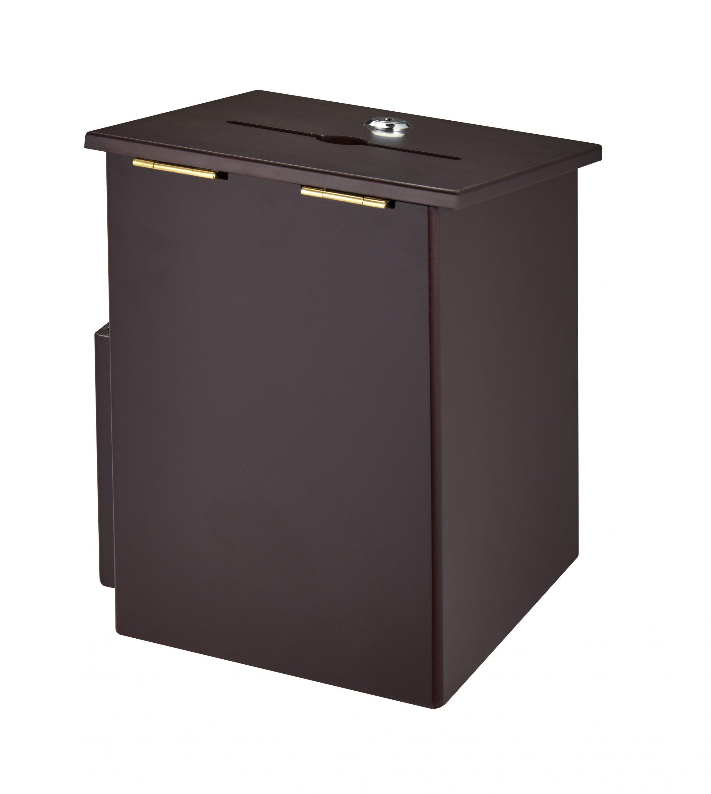 AdirOffice Squared Wood Suggestion Box