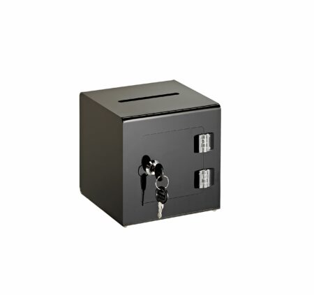 Acrylic Ballot/Donation Box with Easy Open Rear Door