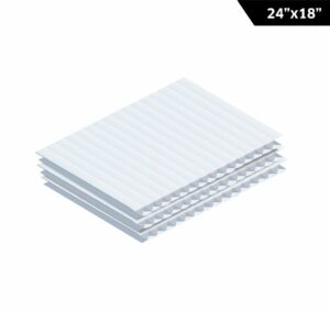 "Corrugated Plastic Sheet 24"" x 18"""