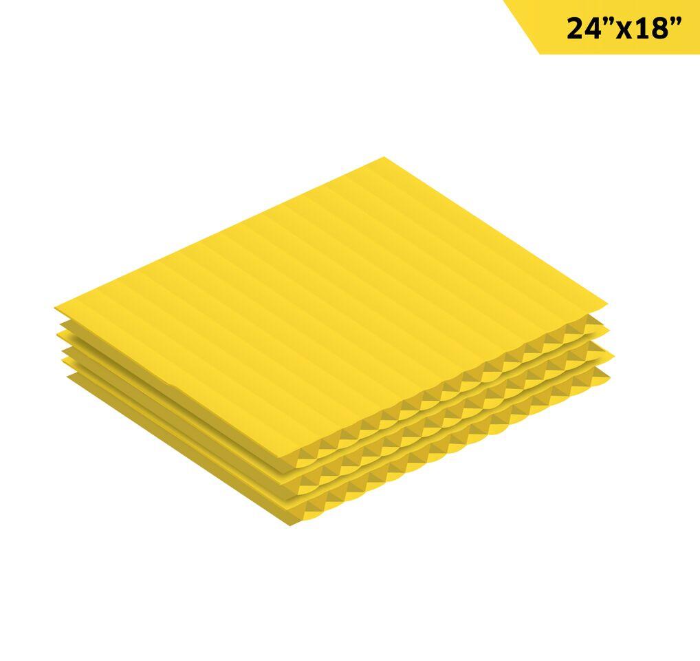 "Corrugated Plastic Sheet 24"" x 18"""