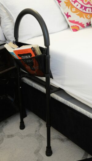 Height Adjustable Bed Rail with Storage Pouch