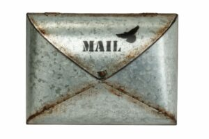 "AdirHome Envelope Style ""Silver Rusty"" Mailbox"