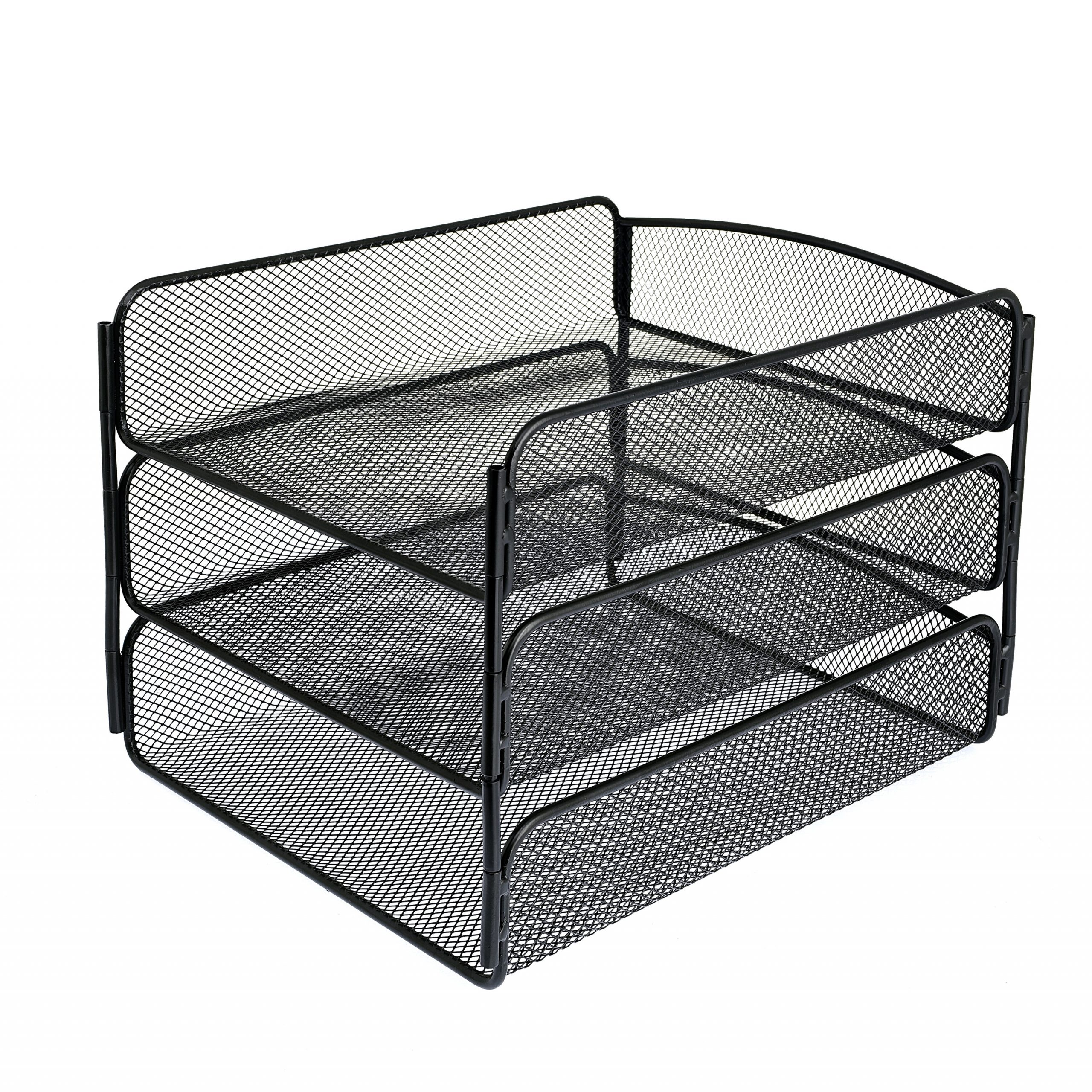 Mesh Desktop Organizer with Triple Tray