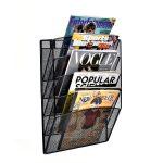 Steel Mesh Magazine Wall Rack