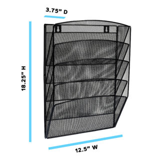 Steel Mesh Magazine Wall Rack