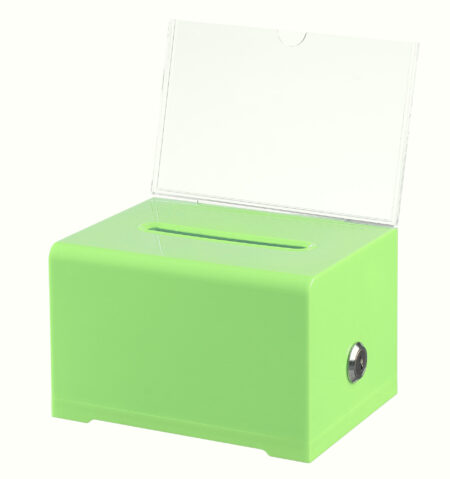 ACRYLIC DONATION AND BALLOT BOX WITH LOCK