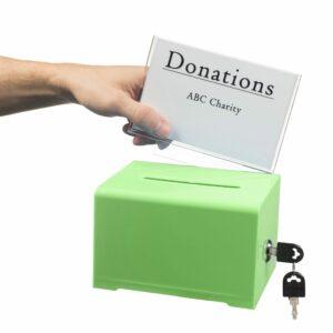 Acrylic Donation and Ballot Box with lock