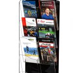 "Hanging Magazine Rack with Clear Acrylic Adjustable Pockets 51"" x 20"""