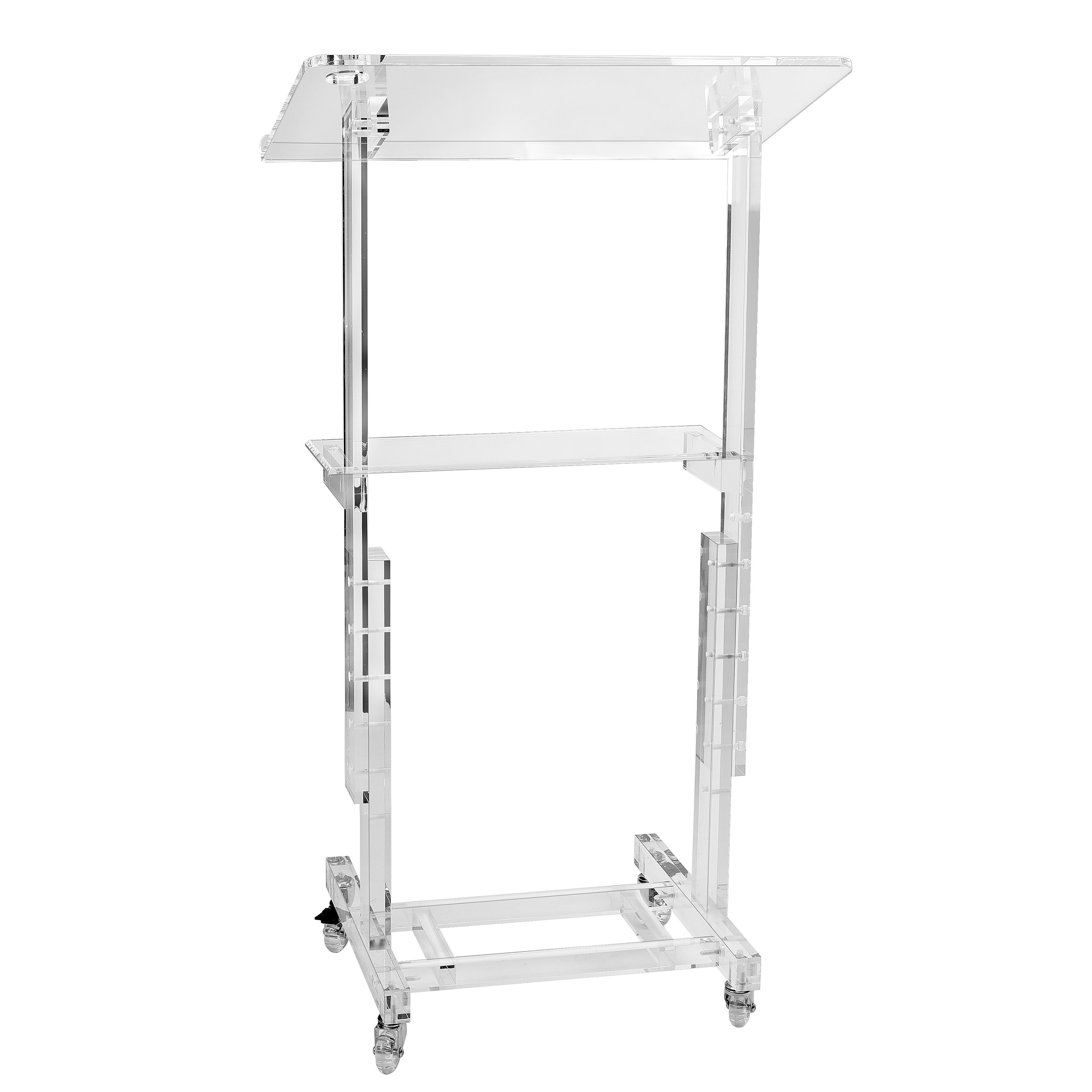 Stand Up Mobile Adjustable Height Acrylic Podium