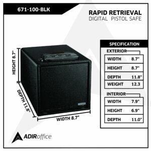 Rapid Retrieval Digital Pistol Safe