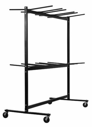 Two Tier Folding Chair Cart