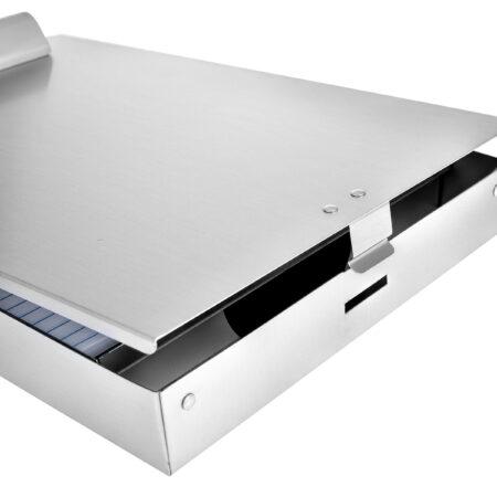 2 Compartments Aluminum Dual Storage Clipboard