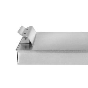Aluminum Dual Storage Clipboard-2 Compartments