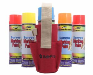 Spray Can Holder with Pockets and Clip