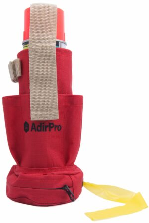 Spray Can Holder and Flag Tape Dispenser with Pockets and Clip