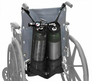 Double Oxygen Bag for Wheelchair, D and E Cylinders