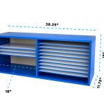 AdirOffice Extra Wide Wooden Construction Paper Organizer