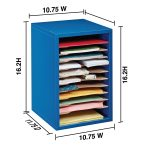 THE ADIROFFICE 11-COMPARTMENT VERTICAL PAPER SORTER KEEPS YOU ORGANIZED