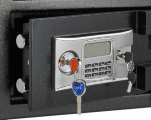 Depository Safe with Two Keys plus keypad for enhanced protection