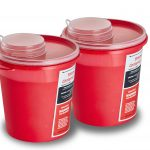 Sharps Container 5 Quart with Mailbox Style Horizontal Lid - 2 Pack