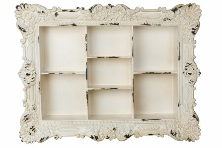 Multiple Sectioned Wall Shelf with Rustic Design