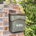 "AdirHome Envelope Style ""Silver Rusty"" Mailbox"