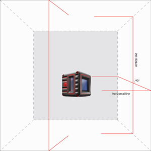 CUBE 3D Cross Line Laser Level