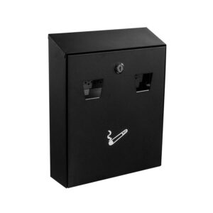 ALL-IN-ONE WALL MOUNTED CIGARETTE DISPOSAL STATION