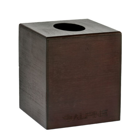 ESPRESSO WOODEN TISSUE BOX COVER