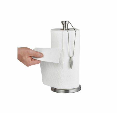 Stainless Steel Paper Towel Dispenser with Slip-Resistant Base