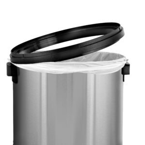 ALPINE INDUSTRIES 17-GALLON STAINLESS STEEL TRASH CAN WITH SWING LID