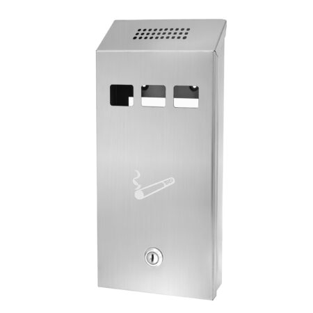 STAINLESS STEEL WALL MOUNTED CIGARETTE DISPOSAL TOWER