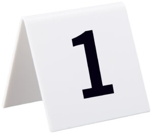 ALPINE INDUSTRIES SELF STANDING NUMBER CARDS, NUMBERS 1-25