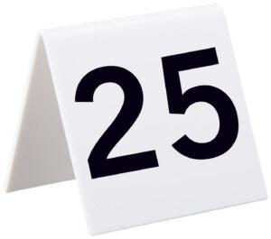 ALPINE INDUSTRIES SELF STANDING NUMBER CARDS, NUMBERS 1-25