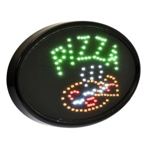 Alpine Industries LED Pizza Sign, Oval, 23 x 14