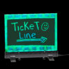 LED FLASHING ERASEABLE MESSAGE BOARD WITH ACRYLIC WRITING PANEL AND STAND