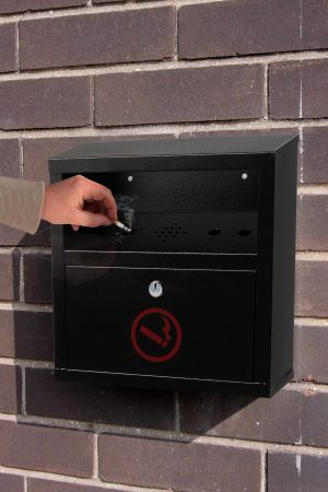 Quick Clean Wall-Mounted Cigarette Disposal Station