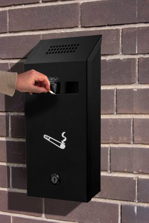 Wall-Mounted Cigarette Disposal Tower