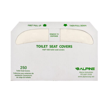 HALF-FOLD TOILET SEAT COVER – 20 PACKS OF 250 COVERS