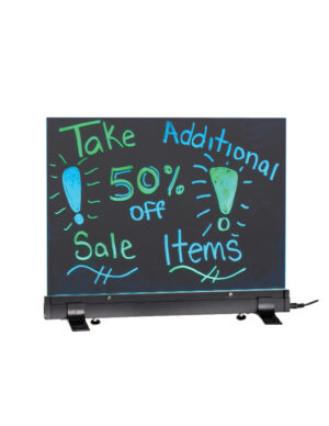 LED Flashing Eraseable Message Board with Acrylic Writing Panel and Stand 9 x 12