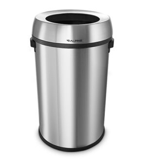 Stainless Steel Open Top 17 Gallon Trash Can