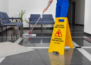 "24"" CAUTION WET FLOOR SIGN"